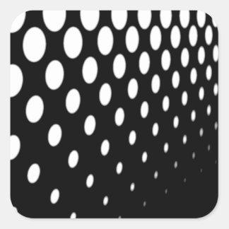 Half Tone Perspective Square Sticker
