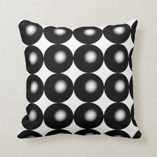 Half Tone Spheres Throw Pillow