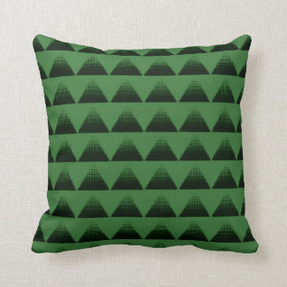 Half-Tone Triangles Green Throw Pillow