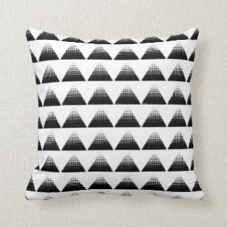 Half-Tone Triangles Throw Pillow
