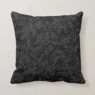 Half-Tone Vegetation Black and White Throw Pillow