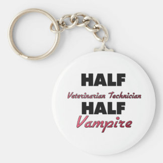 Half Veterinarian Technician Half Vampire Keychain