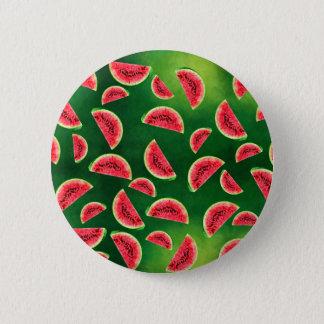 half watermelon illustration in triangle pattern 2 inch round button