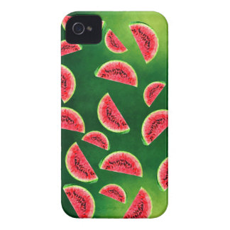 half watermelon illustration in triangle pattern iPhone 4 cases