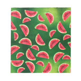 half watermelon illustration in triangle pattern notepad