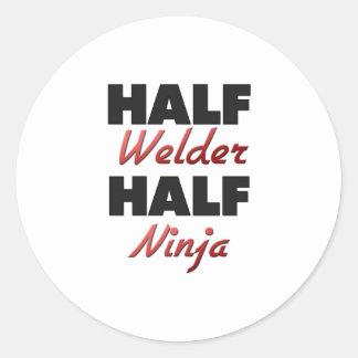 Half Welder Half Ninja Classic Round Sticker