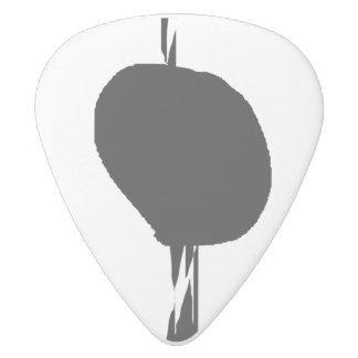 Half White Delrin Guitar Pick