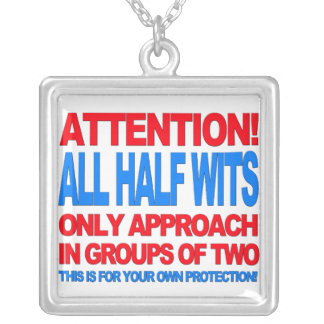 Half Wits Square Pendant Necklace
