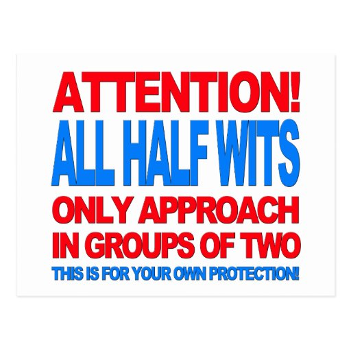 Half Wits Post Cards