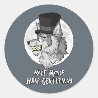 Half Wolf Half Gentleman Classic Round Sticker
