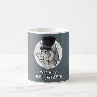 Half-Wolf Half-Gentleman Classic White Coffee Mug