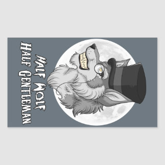 Half Wolf Half Gentleman Sticker