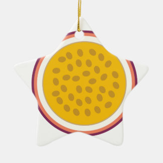 half yellow fruit ceramic ornament