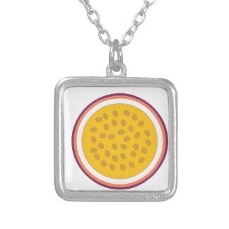 half yellow fruit silver plated necklace