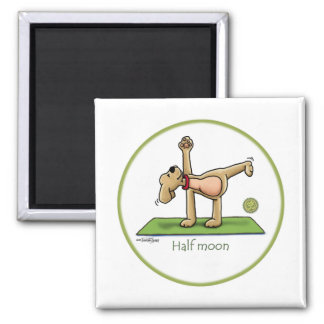 Halfmoon - yoga square magnet