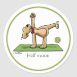 Halfmoon - yoga stickers