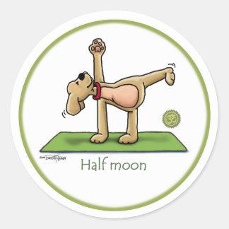 Halfmoon - yoga stickers