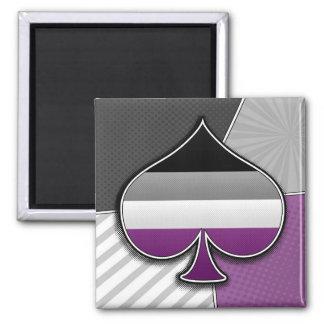 Halftone Asexual Pride Symbol Magnet