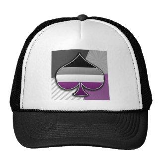 Halftone Asexual Pride Symbol Trucker Hat