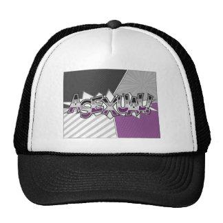 Halftone Asexual Typography Trucker Hat