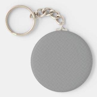 Halftone Black Grid Basic Round Button Keychain