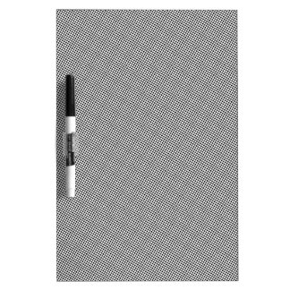 Halftone Black Grid Dry Erase White Board