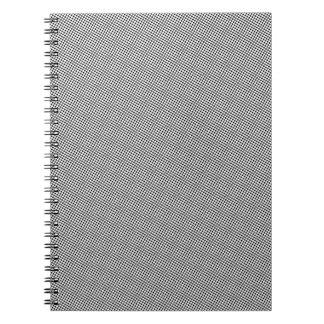 Halftone Black Grid Notebook