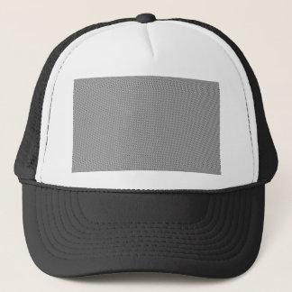 Halftone Black Grid Trucker Hat