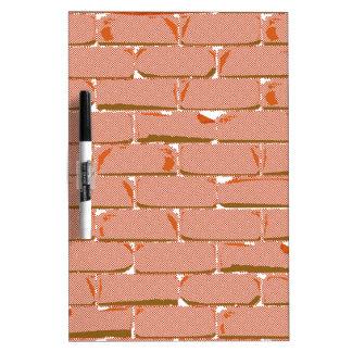Halftone Brick Wall Dry Erase Board