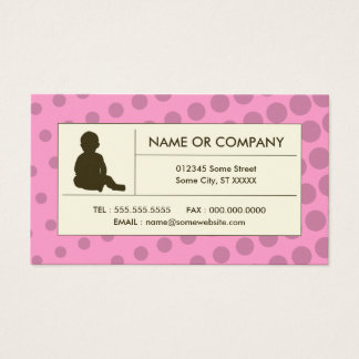 halftone childcare business card