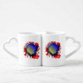 Halftone Comic Exclamation Coffee Mug Set