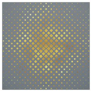 Halftone Diamond Pattern Gold Fabric
