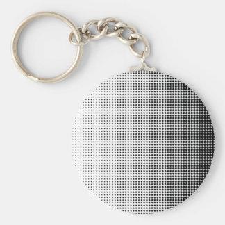 Halftone Faded Grid Basic Round Button Keychain