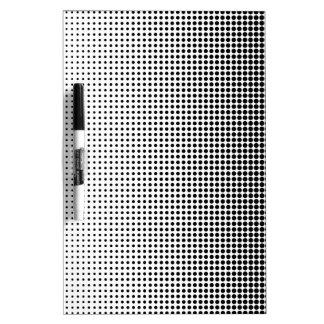 Halftone Faded Grid Dry-Erase Board