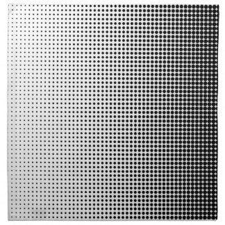 Halftone Faded Grid Napkin