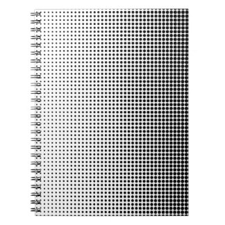 Halftone Faded Grid Notebook