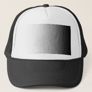 Halftone Faded Grid Trucker Hat