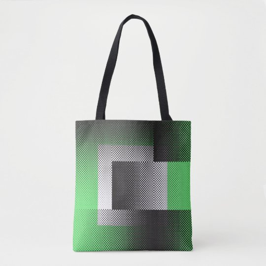 Halftone geometry tote bag