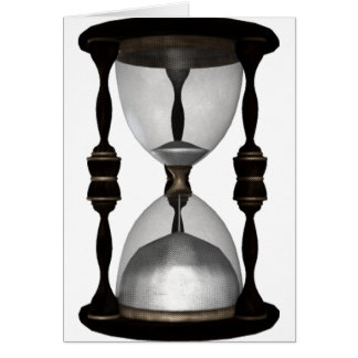Halftone Hourglass Sand Timer Card