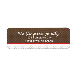 Halftone Red and Brown Return Address Label