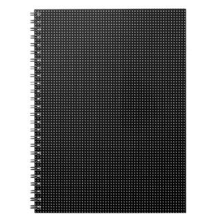 Halftone White Grid Spiral Notebook