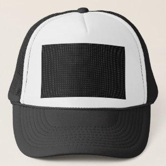 Halftone White Grid Trucker Hat