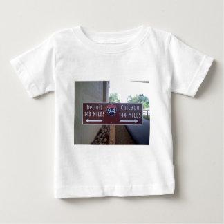 Halfway Point, Detroit Chicago. Baby T-Shirt