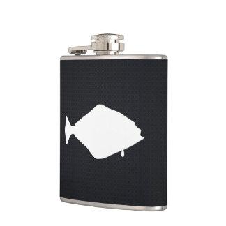 Halibut Fishes Minimal Hip Flask