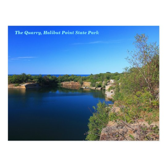 Halibut Point State Park Quarry Rockport Cape Ann Postcard