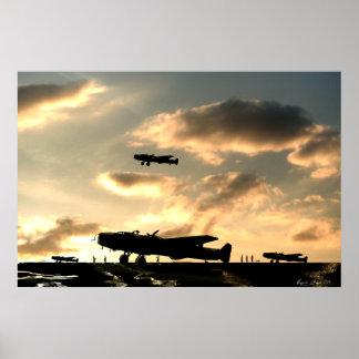 Halifax Bombers Dusk Dispersal Poster