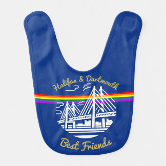 Halifax Dartmouth Best  Friends baby  bib blue