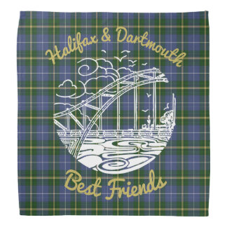 Halifax  Dartmouth best friends   bandana tartan