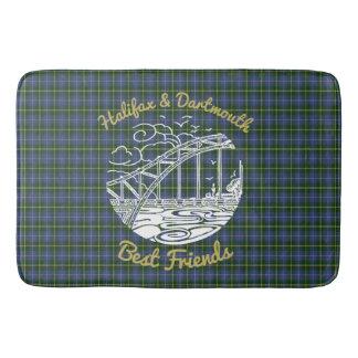 Halifax Dartmouth best friends Bathroom mat tartan
