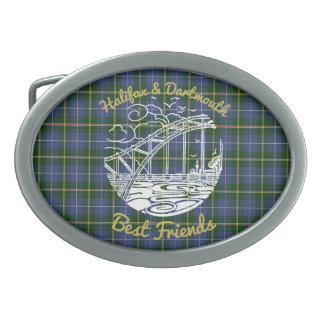 Halifax Dartmouth  Best Friends belt buckle tartan